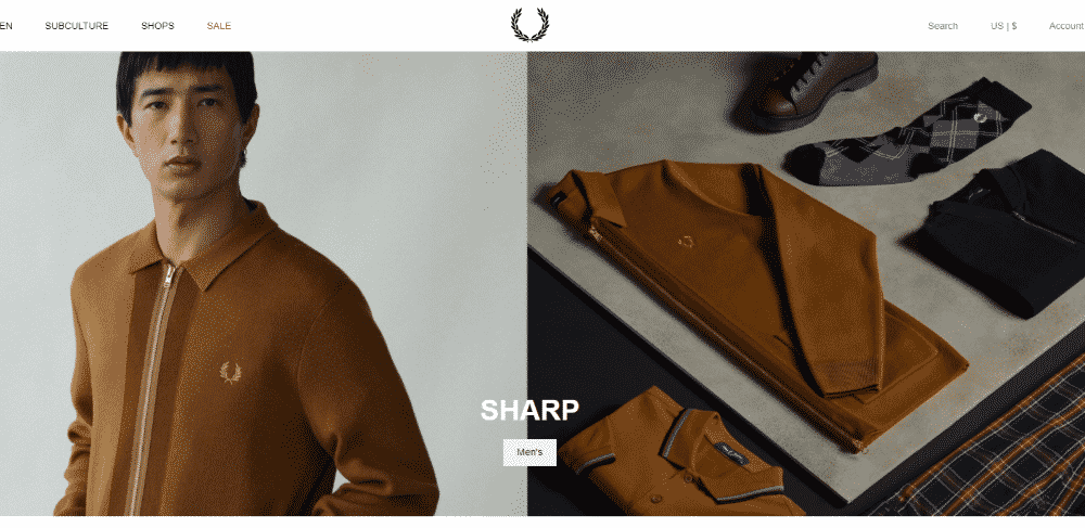 Magento website example - Fred Perry