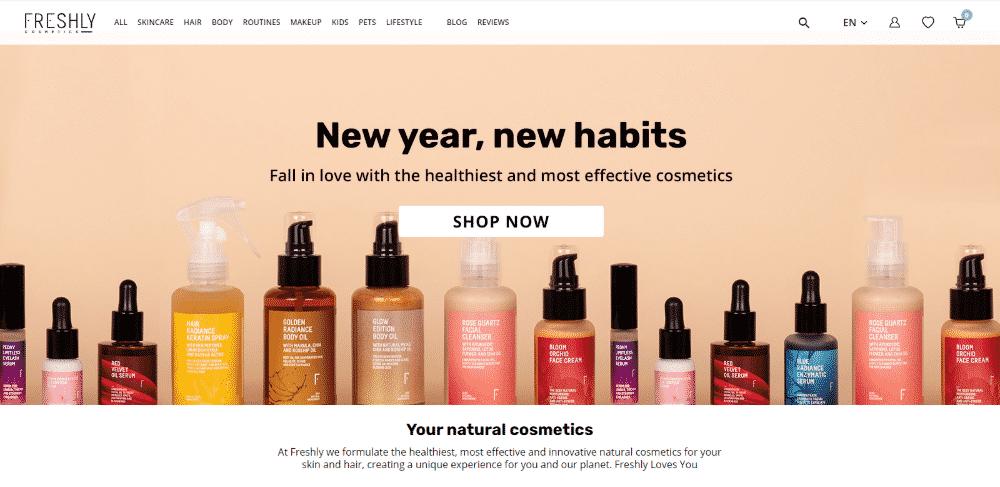 Prestashop website example - Freshly