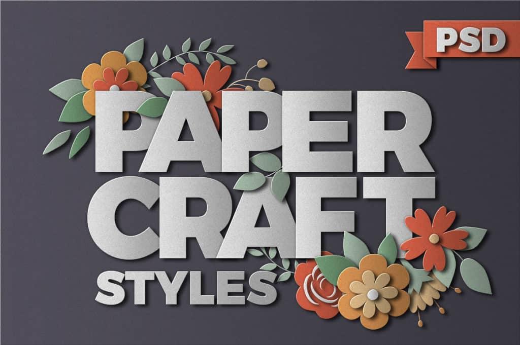 PaperCraft Photoshop Styles