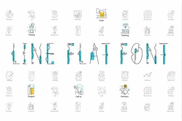 Line-Flat-font-line-flat-icon