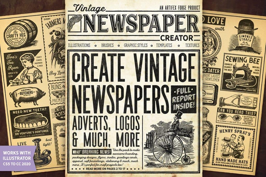 Vintage Newspaper Creator – Illustrator