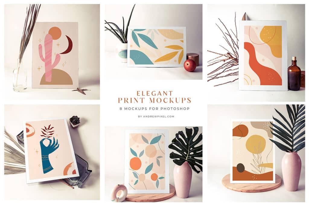 8 Paper Print Mockups