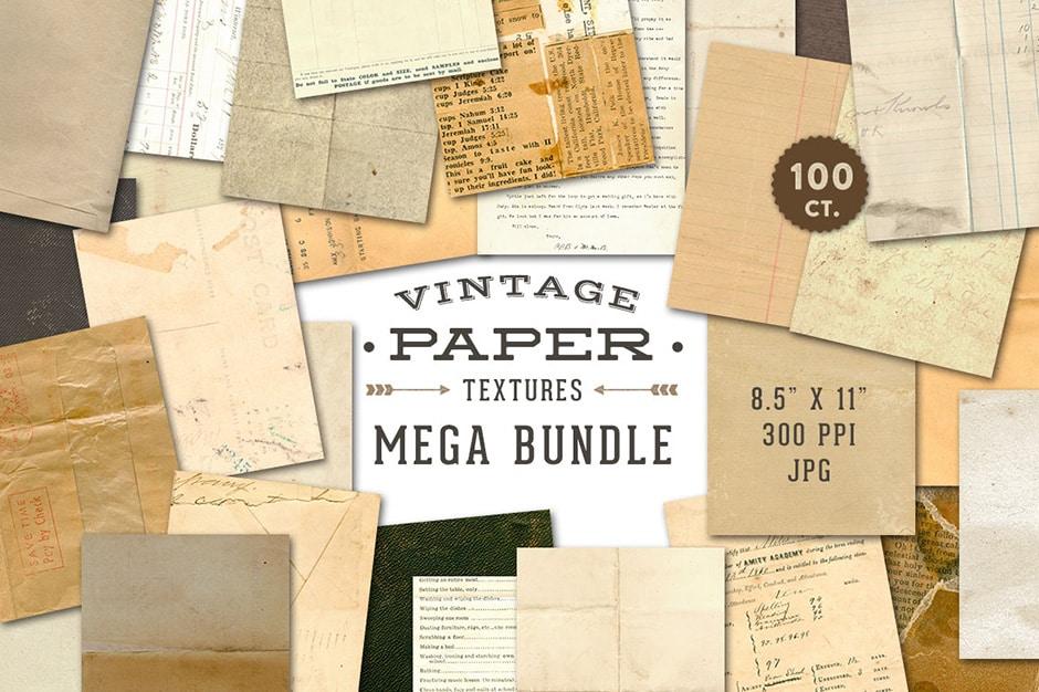 Vintage Paper Textures Mega Pack