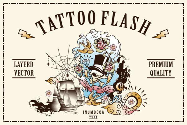 40 Tattoo Flash (Full Colors)