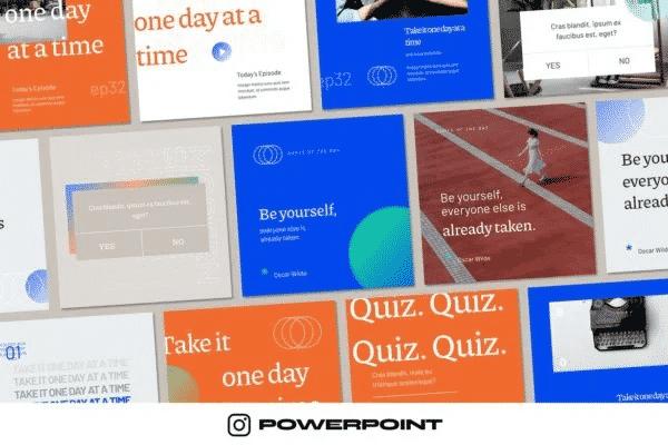 Modern Stylish - Instagram Powerpoint Template