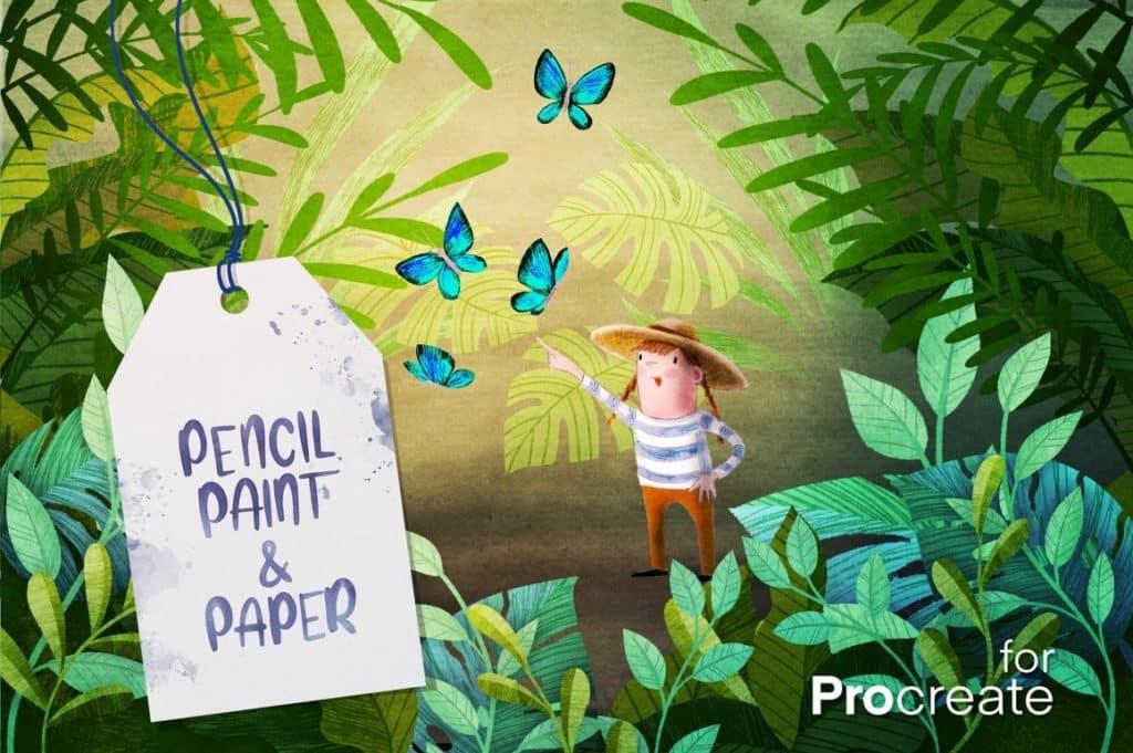 Pencil, Paint & Paper for Procreate