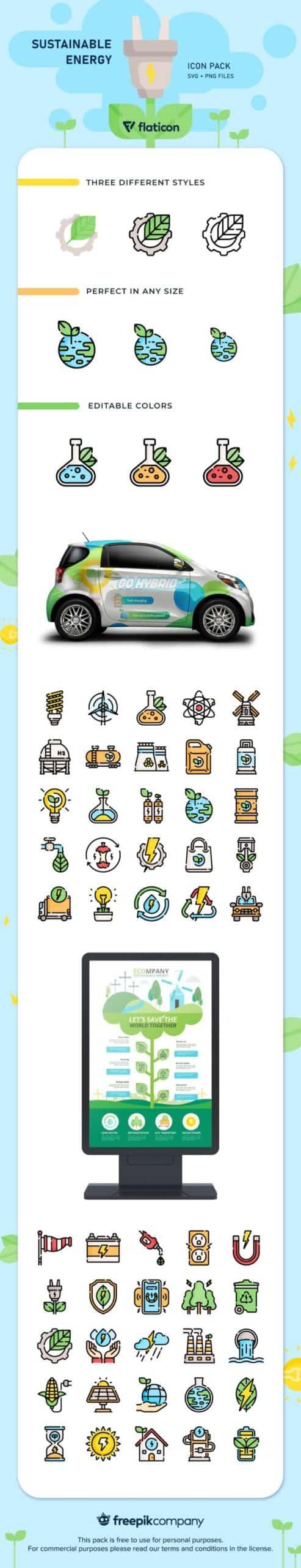 50 free sustainable energy icons