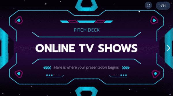 Online Tv Shows Pitch Deck