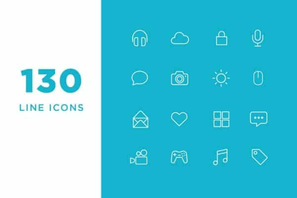Vector-Line-Icons-and-Font