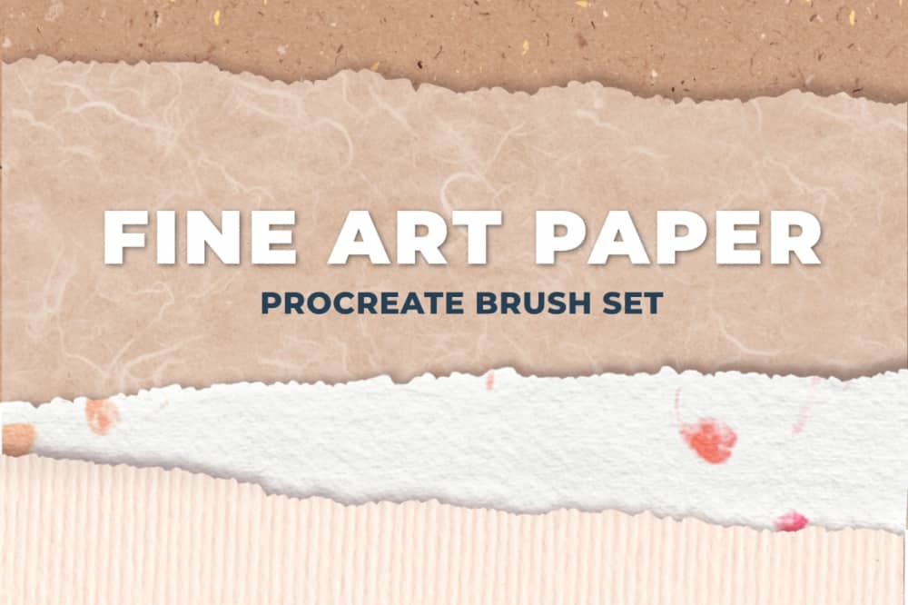 Fine Art Paper Procreate Brush Set