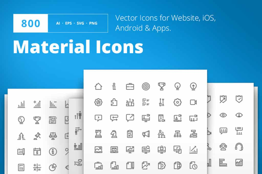 800 Material Design Icons