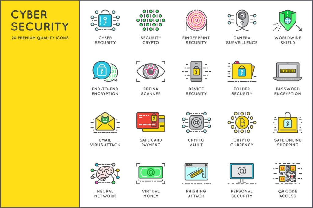 Awesome Cyber Security Icons