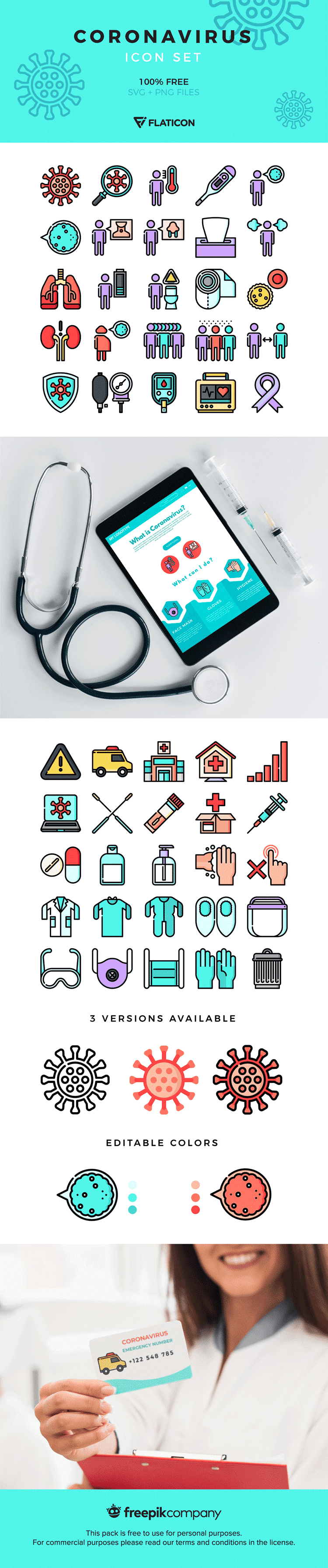 Free Covid-19 themed icons
