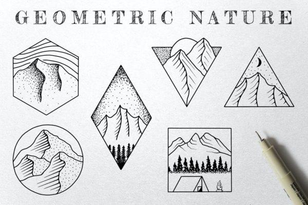 Geometric Nature Illustrations
