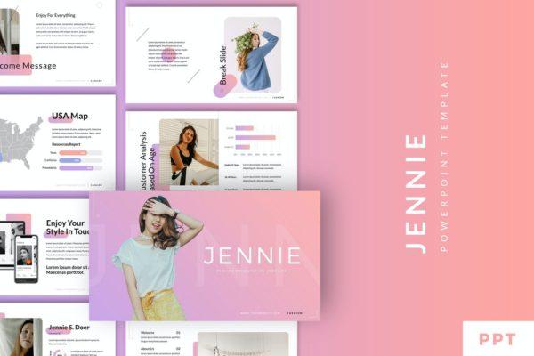 Jennie - Fashion Style PowerPoint Template