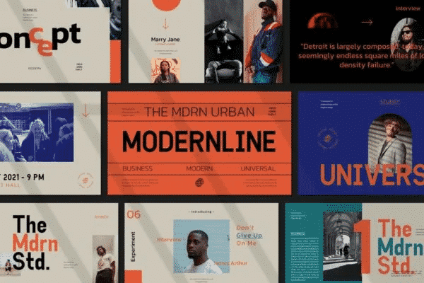 Modern Line Powerpoint Template
