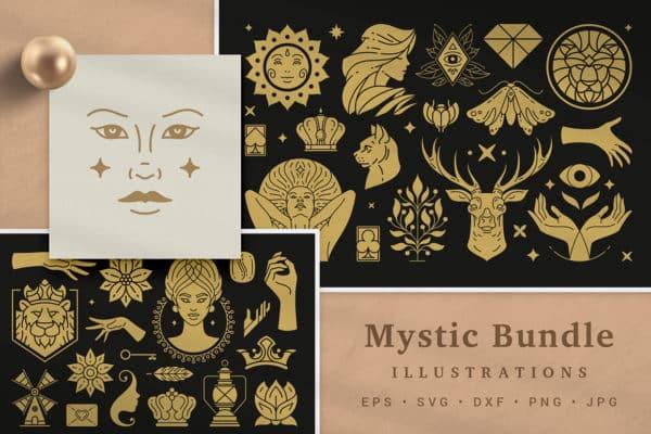 Mystic Illustrations Design Bundle