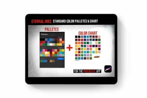 Procreate Eternal Tattoo Color Chart