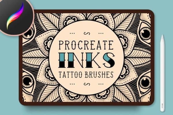 Procreate Inks Tattoo Brushes