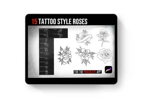 Procreate Tattoo Style Roses