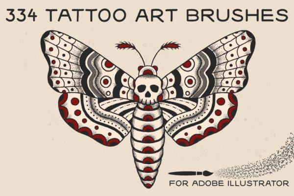 Tattoo Art Brushes For Adobe Illustrator