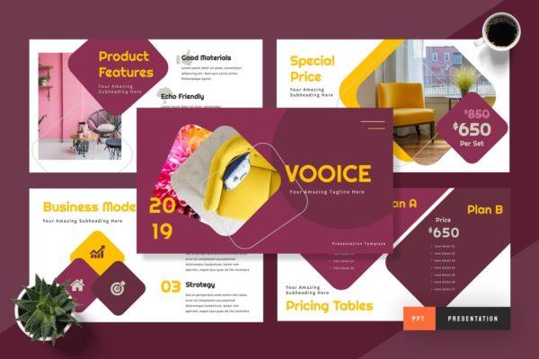 Vooice Furniture Powepoint Presentation