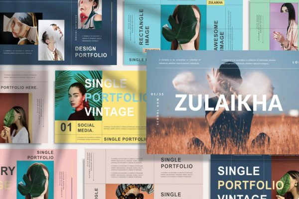 ZULAIKHA - Modern Fashion PowerPoint Template