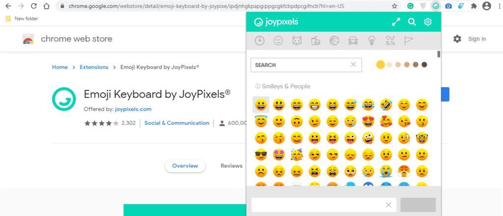Emoji Keyboard social media marketing tool