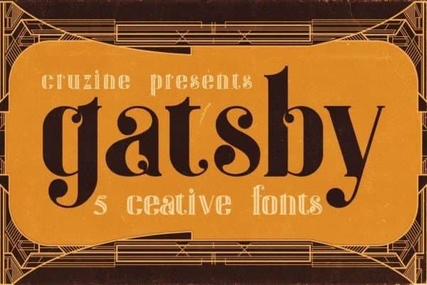 Gatsby - ArtDeco Font