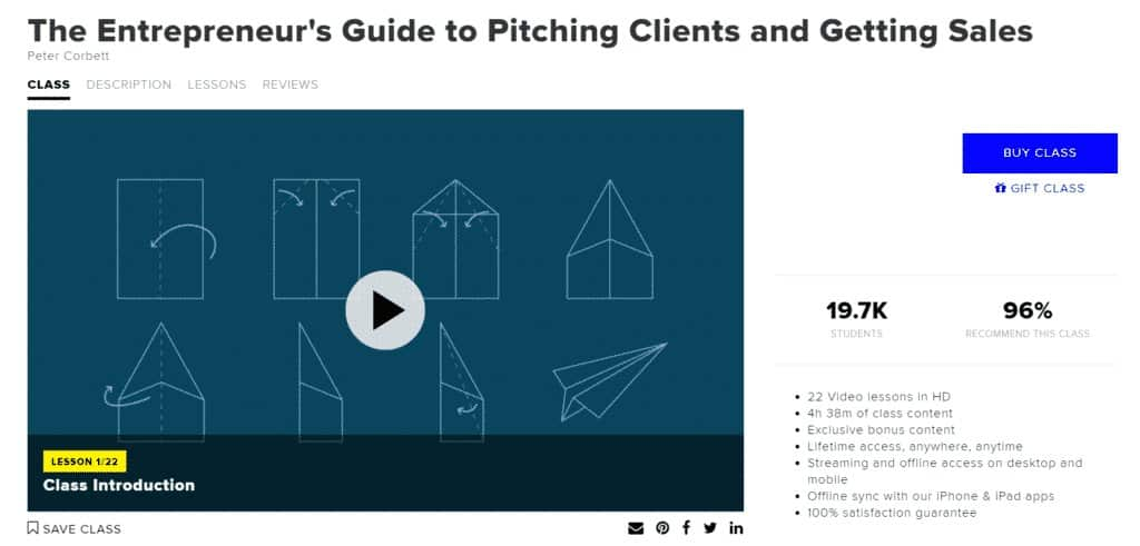 The Entrepreneur's Guide to Pitching Clients and Getting Sales
