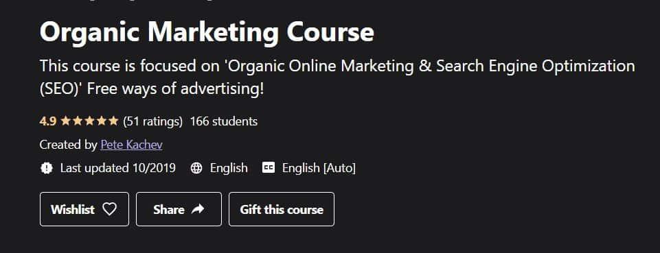 Organic Marketing Course