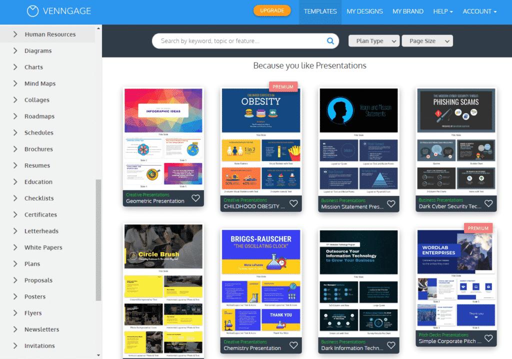 Venngage graphic design tool for social media marketing