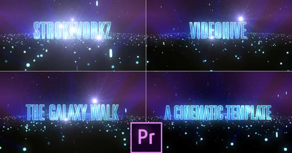 The Galaxy Walk—-Cinematic Text Template