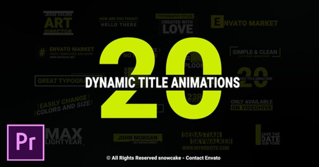 Dynamic Titles For Premiere Pro