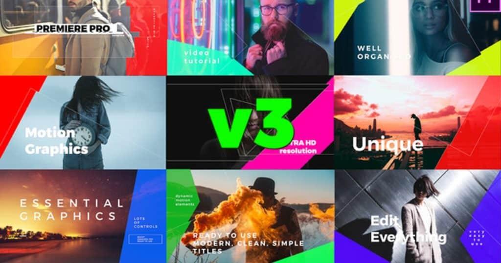 Simple Mogrt Graphics Titles