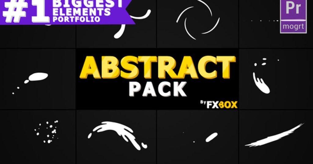 Abstract Shape Elements   Premiere Pro MOGRT