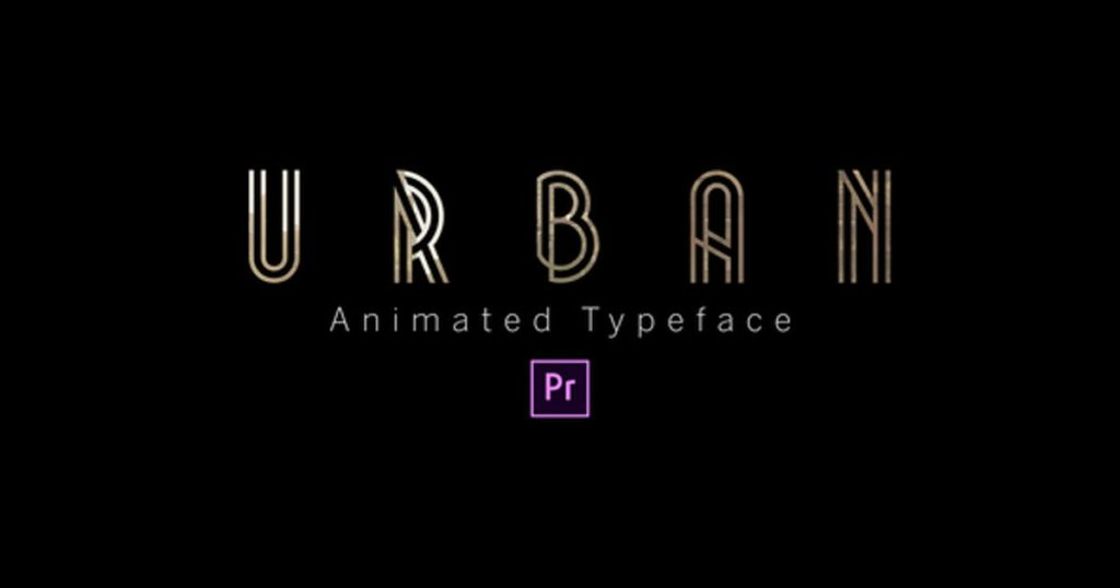 Urban - Animated Typeface