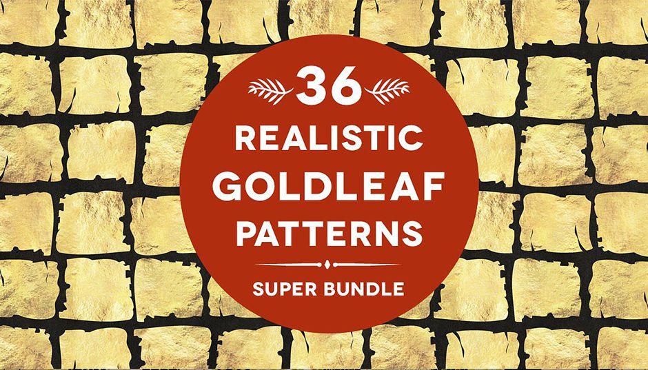 36 Gold Leaf Patterns Super Bundle