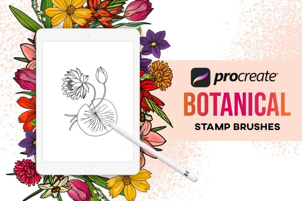 40 Procreate Botanical Stamps
