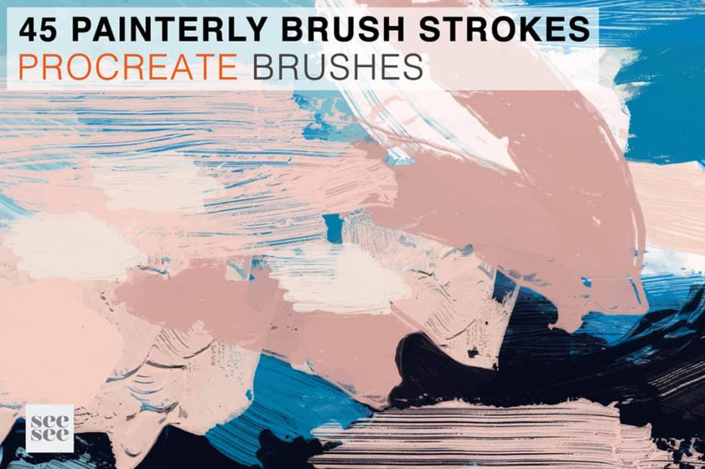45 Procreate Painterly Brush Stamps