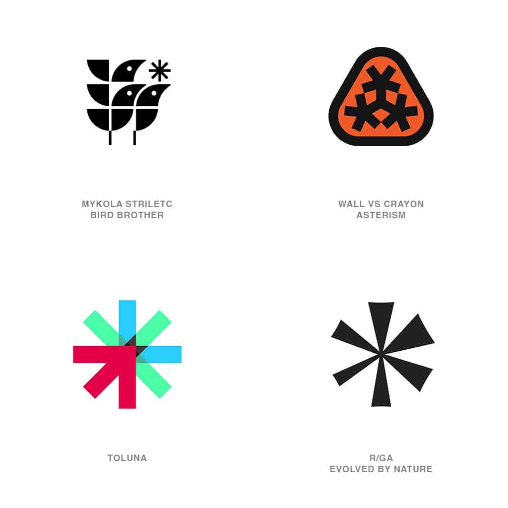 Asterisk Logo Design Trend 2021