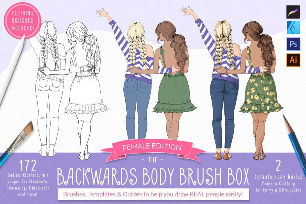Backwards Body Brush Box – Procreate Stamp Brushes