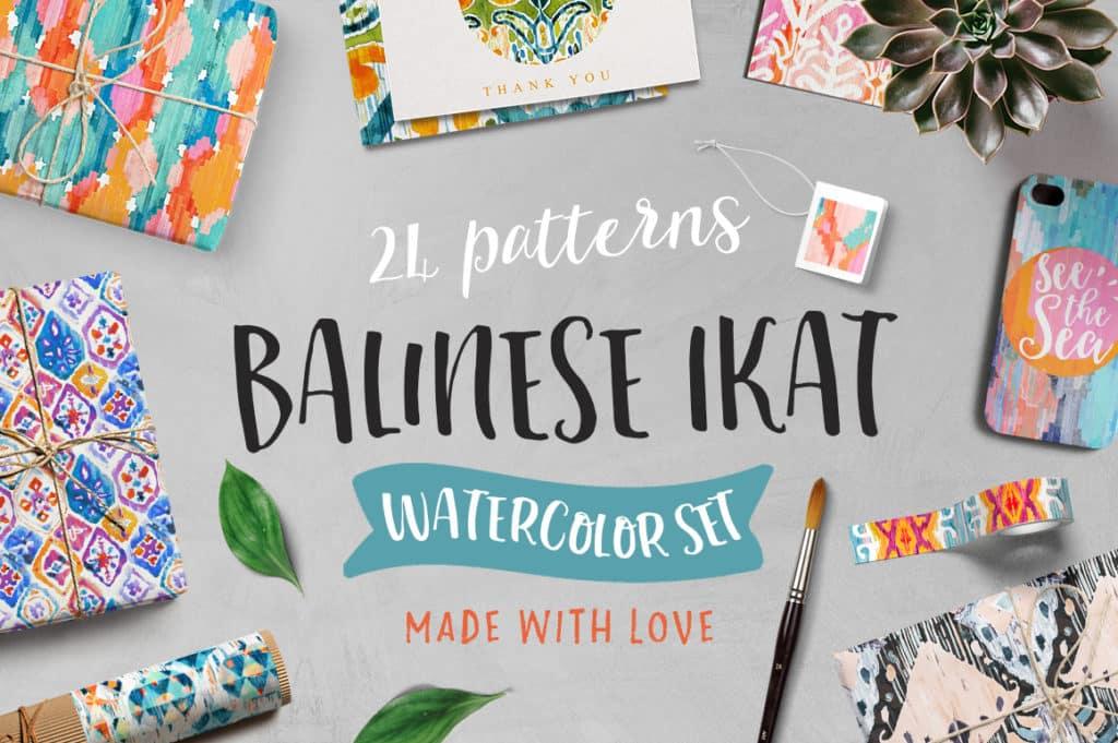 Balinese Textile Ikat Pattern Pack