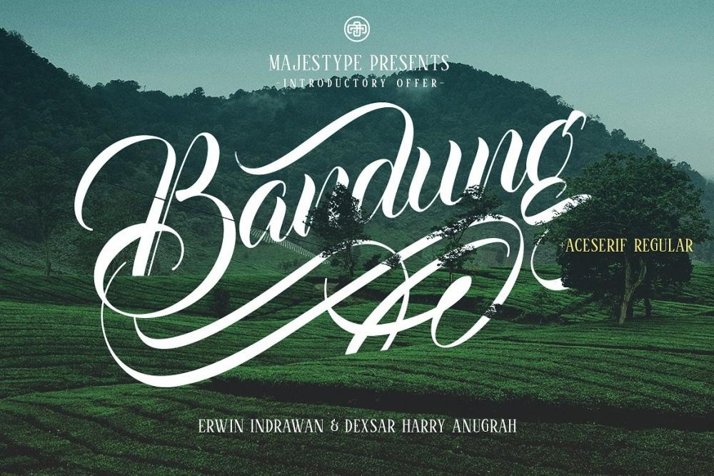 Bandung & Aceserif Typefaces