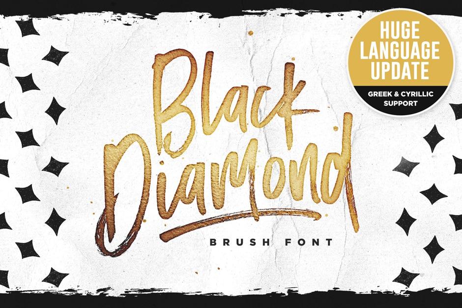 Black Diamond Brush Font