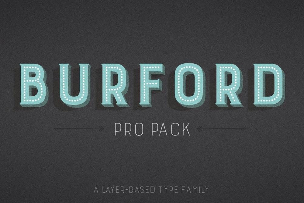 Burford Pro Font Family