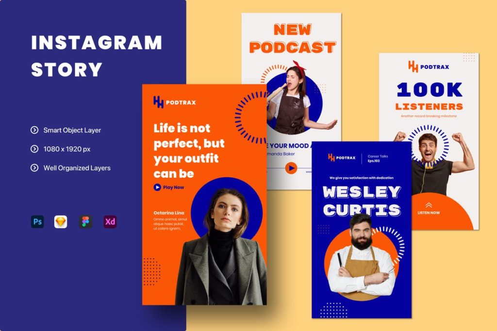 Content Creator Podcast Live Streaming Instagram Story Template