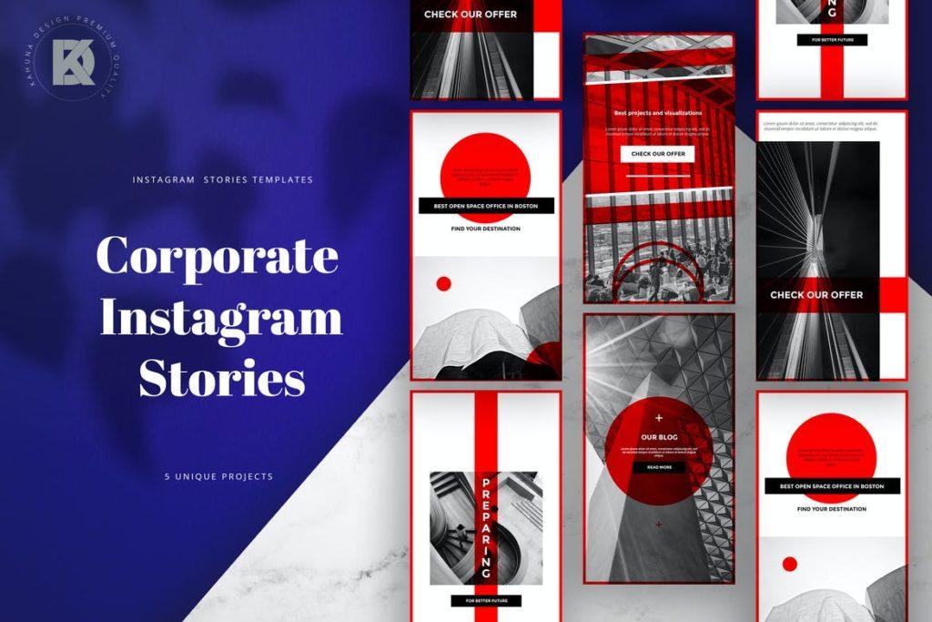 Corporate Instagram Banners Stories