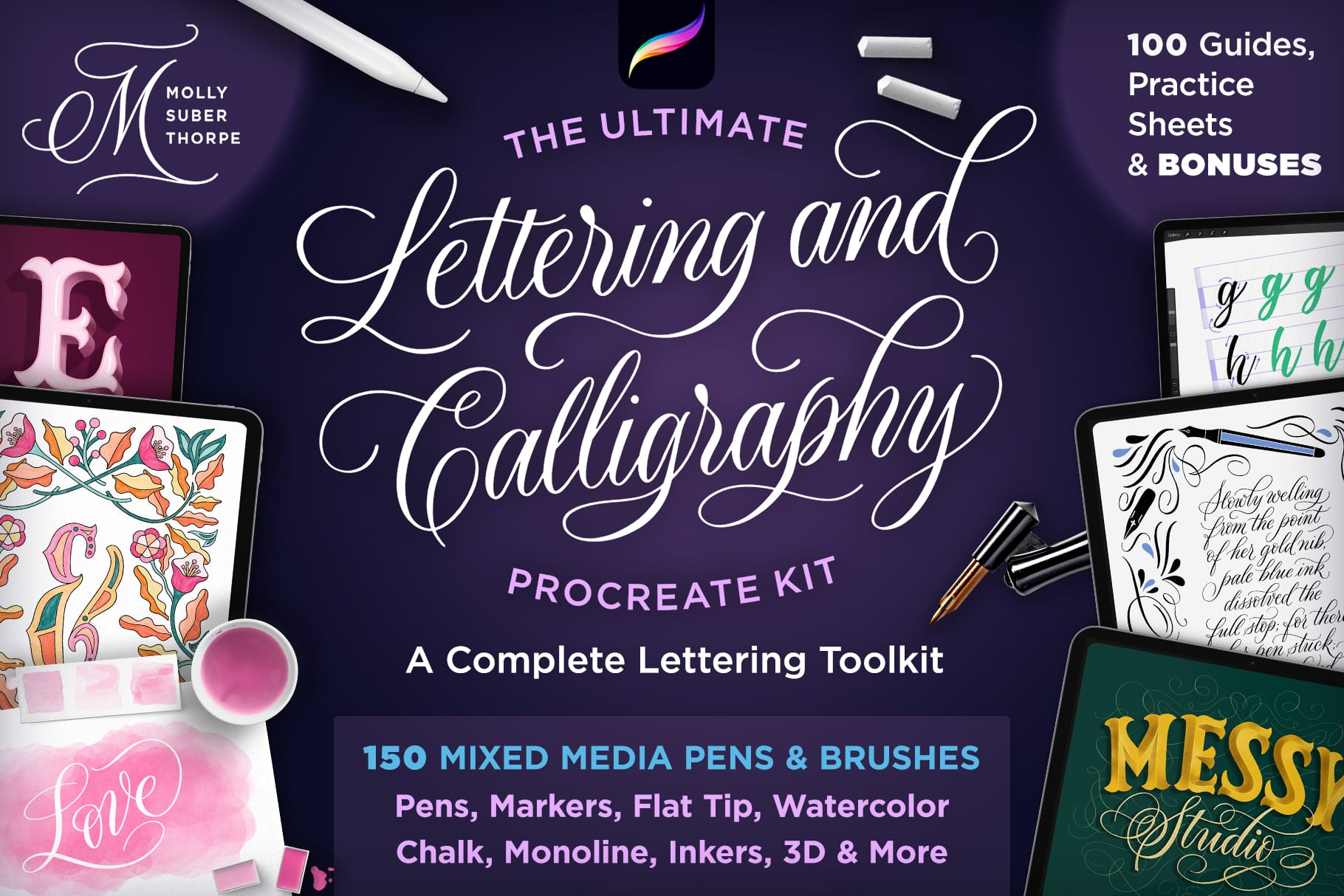 Lettering and Calligraphy Procreate Kit