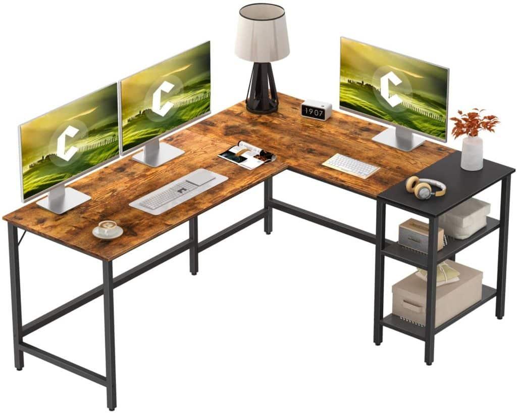 CubiCubi L Shape Computer Desk